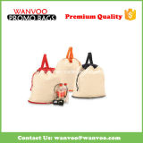 Promotional Recycle Travel Sport Cotton Canvas Drawstring Backpack