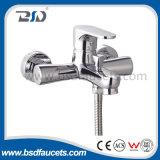 Brass Bathroom Single Handle Wall Mounted Chromed Bath Mixer Faucet