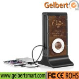 Large Capacity 20800mAh Coffee Shop/Restaurant Advertising Display Power Bank with RoHS