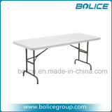 6ft Adjustable-Height Molded Plastic Top Foldable Table
