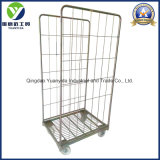 2-Sides Pallet Base Roll Container Storage Packing Trolley
