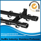 Simple European Style Black Adjustable Curtain Rods for Window Decoration