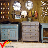 Large 4 Door Rustic Cabinet Distressed Reclaimed Finish Wood Sideboard
