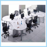 Modern Executive Desk with 6 Divisions Special Shaped Office Workstation