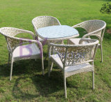 Small Dining Set for Outdoor / Dining Room with PE Rattan