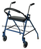Two Wheeled Fold Lightweight Walker Rollator