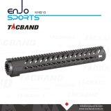 Keymod 15 Inch Handguard Rail Free Float with Picatinny Top Rail Black
