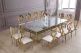 Mirror Golden Stainless Steel Frame Acrylic Decoration Mirror Top Wedding Table