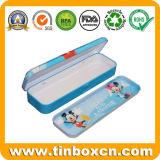Rectangular Tin Pencil Case for Kids, Pencil Tin Box