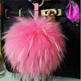 13cm Colorful Lovely Fox Fur Ball Keyring Fur POM Poms