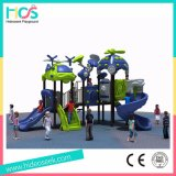 Middle Children Outdoor Plastic Slide Playground Equipment for Hottest Sale (HS04202)