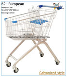 62L European Style Supermarket, Push Cart Shopping Trolley