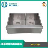 Farmhouse Res-3303 Double Bowl Apron Stainless Steel Kitchen Sink