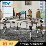 Good Price Stainless Steel Frame Marble Dining Table