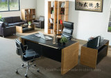 Fashionable Metal Furniture Leather Office Computer Table (AT015A)