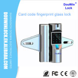 Keypad Fingerprint Glass Door Lock