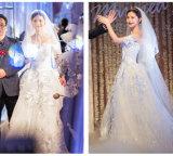 2017 Satin Organza Bridal Wedding Dresses 6837