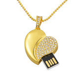 4GB Jewelry Heart Shaped USB Best Flash Drives with UDP