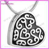 Heart Stainless Steel Cremation Pendant Necklace Ashes Keepsake Memory Urn Jewelry (IJD8108)