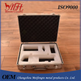 Aluminum Instrument Case for Tools Packaging with Cut-out Foam and Bag