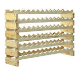 Natural Color Pine Wood Stacking Wine Rack with Size Customize