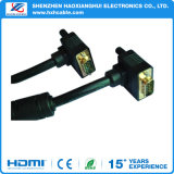 HD15p M to M 90° VGA Cable
