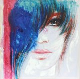High Quality Beauty Girl Canvas Painting for Home Decoration
