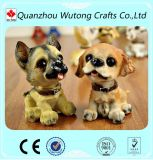Wholesale Sitting Mini Lovely Resin Dog Figurine Gift