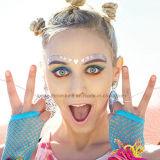 Colorful Hearts Temporary Face Rocks Rhinestone Gem Face Jewel Stickers (S028)