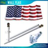 6FT USA Wall Flag with Aluminum Flagpole