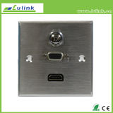 High Quality 86 Type Aluminium Alloy Wall Plate HDMI VGA Faceplate