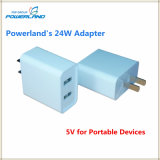 5V 4.8A Dual Ports USB Ultra Compact Wall Charger Adapter