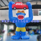 Giant Outdoor Customised Inflatable Cartoon/Inflatable Warking Cartoon for Adult