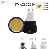 3W Dimmable GU10 LED Spotlighting