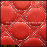 Sponge Back Microfiber Leather for Car Seat Hw-C1701