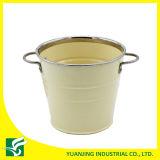 Home Decoration Metal Zinc Bucket with Iron Handle
