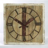 China Manufacturer Retro Wooden Wall Clock Home Decorate