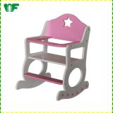 Lovely Wooden Pink Baby Toy Doll Rocking Chair