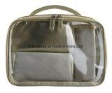Women′s Portable Makeup Bag Set Champagne Colour