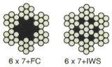 6X7+FC, 6X7+Iws Steel Wire Rope