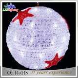 CE RoHS Red Star Motif Lamp LED Acrylic 3D Ball