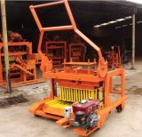 Qmd4-45 Diesel Engine Concrete Hollow Brick Laying Machine Block Making Mobil Machine