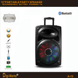 12′′ Multimedia DJ Outdoor Wireless Karaoke Trolley Bluetooth Active Speaker