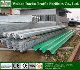 Silver or Green Color Corrugated Beam Guardrail