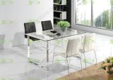 (ST-087) Home Furniture Modern Tempered Glass Dining Table