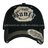 Washed Raw Edge Applique Embroidery Sport Baseball Cap (Banff)