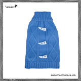 Horn Button Cable Dog Sweater (SPS9083)