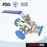 Stainless Steel Hygienic Clamped Three Way Ball Valve