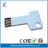 White Metal Key USB Disk 8GB