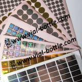 Security Hologram, Hologram Labels, Silver Gold Color Hologram Sticker
